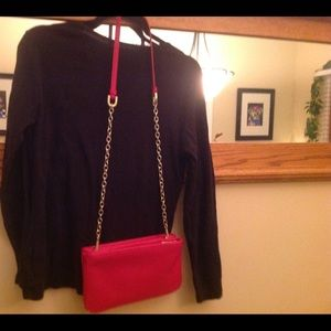 Ann Taylor Red Crossbody